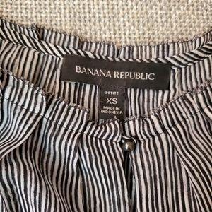 Banana Republic Tops - Banana Republic Striped Ruffle Top PXS